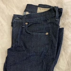 Size 24 rag & bone indigo skinny jeans